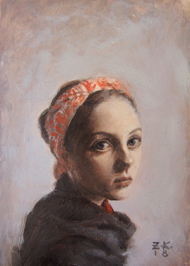 Girl in a Red Headscarf