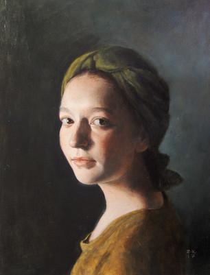 Girl in a Green Turban II