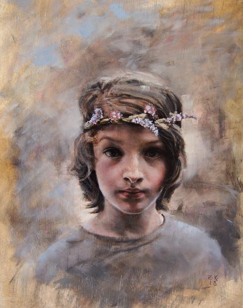 Boy with a Flower Garland