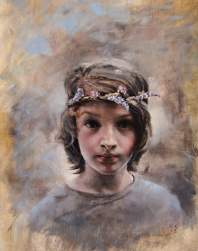 Boy with a Flower Garland