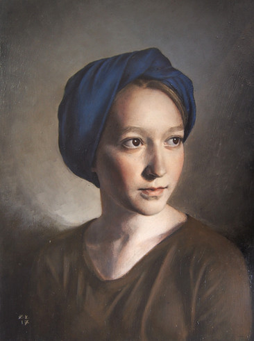 Girl in a Blue Turban
