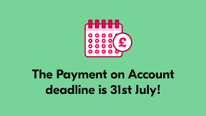 Payment deadline is 31st July