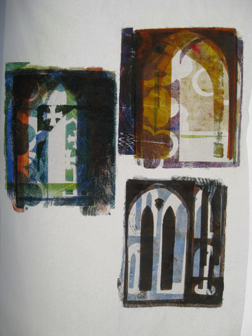 Student work - printmaking