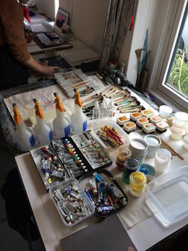 Studio materials - mokuhanga