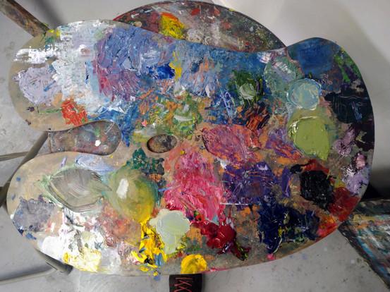 Oil palette