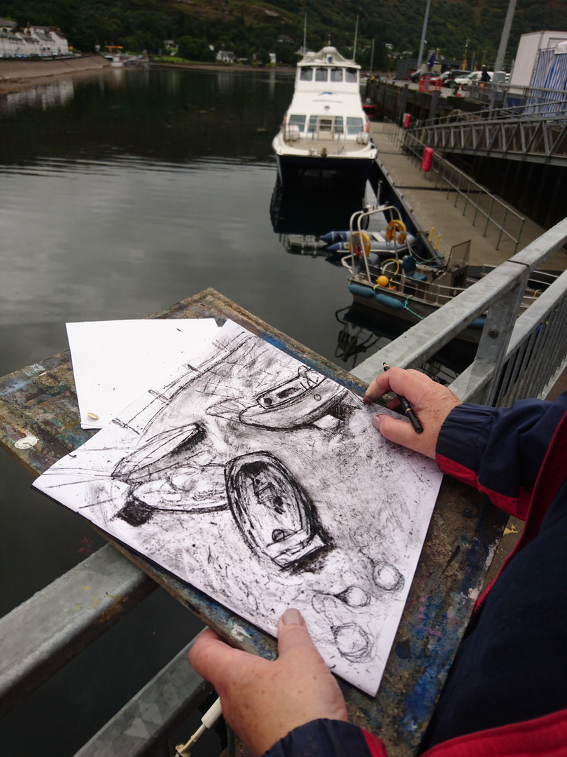Harbour sketching