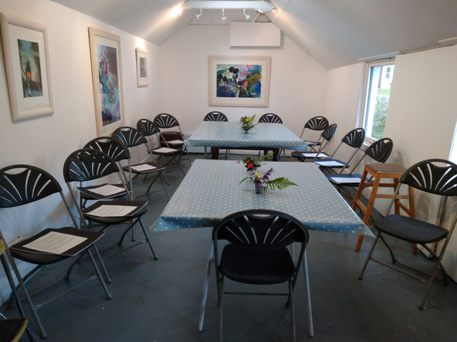 The garden studio for lunch and talks