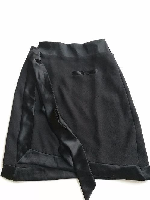 Black Tie Wrap skirt
