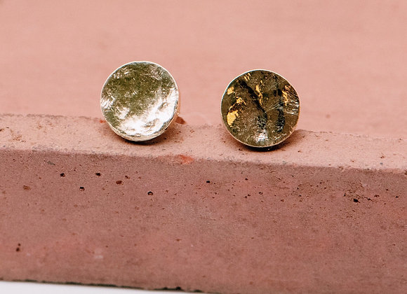 Gold Coin Studs in 10k Gold