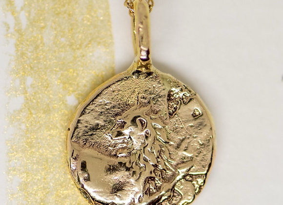 The Golden Lion Coin in 10k Gold