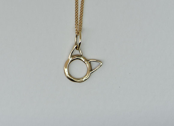 The Cat Charm in 10k Gold
