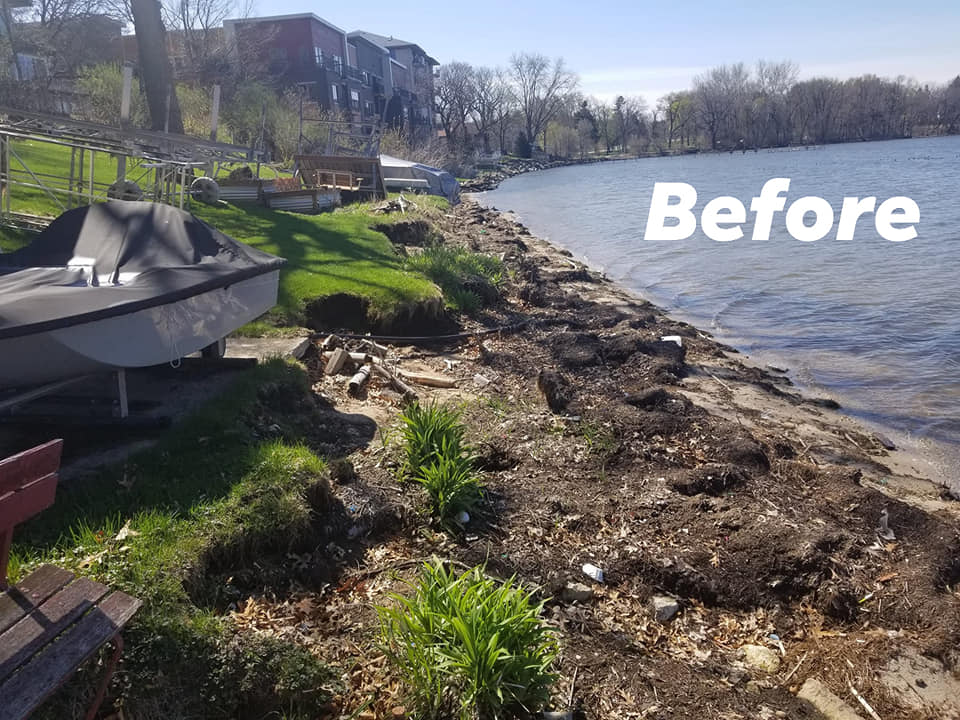 Shoreline repair,  Shoreline clean up
