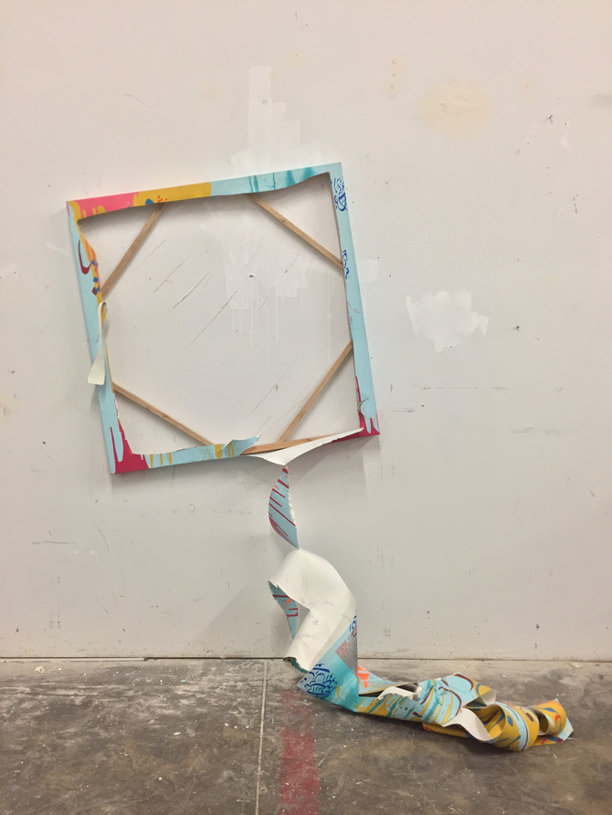 Creative destruction performance art by Keyvan Shovir