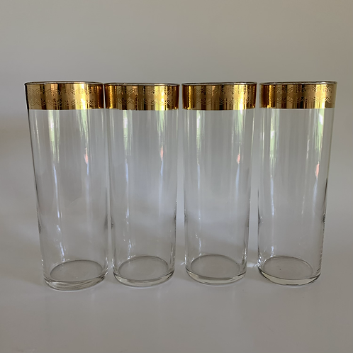 Vintage Starlite tall glass set