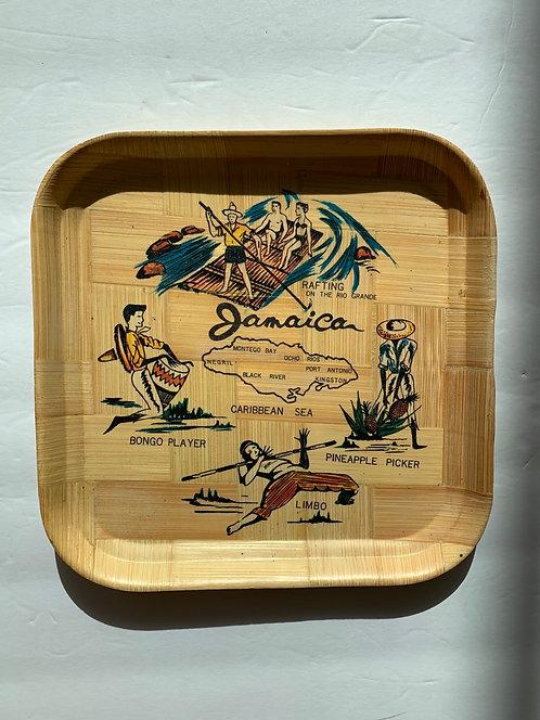 Vintage Bamboo Souvenir tray