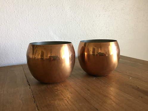 Copper roly poly cups/planters