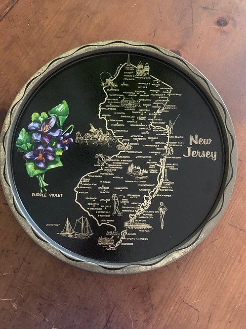 New Jersey State Souvenir Tray
