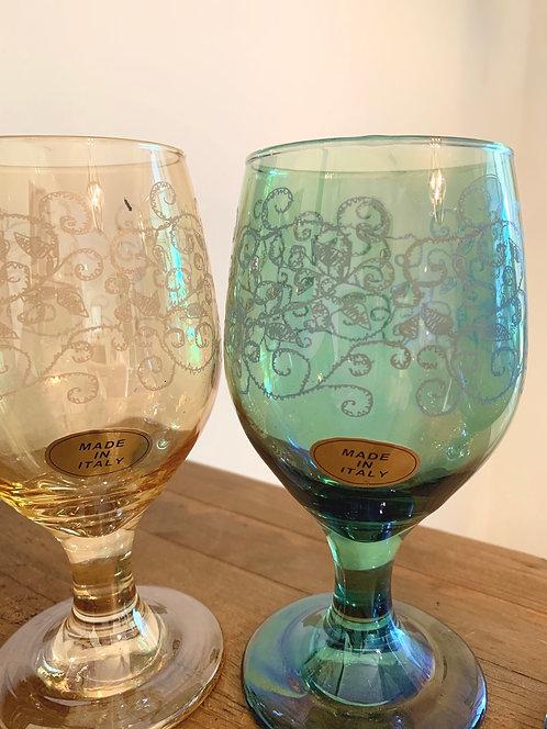 Vintage Cristalleria Fratelli Fumo glasses