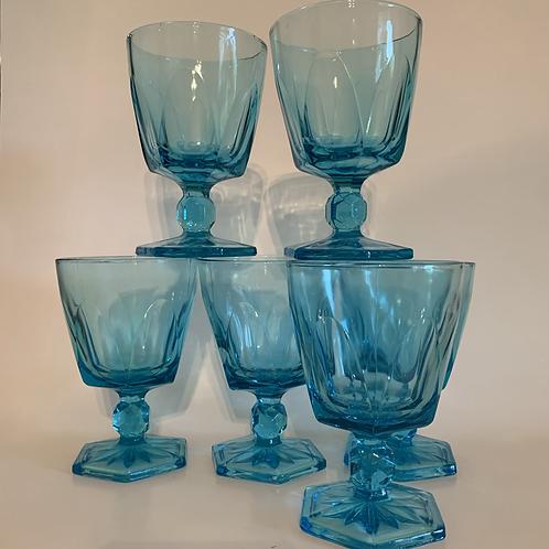 Vintage Hazel Atlas goblet set
