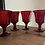 Thumbnail: Vintage Red octogonal wine glasses