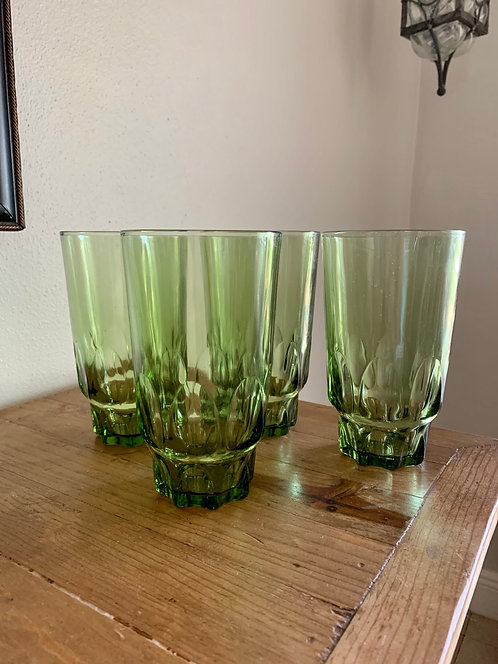 Vintage tall drinking glass set