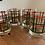 Thumbnail: Vintage Georges Briard Tartan double rock glasses