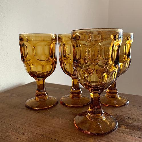 Vintage Westmoreland goblet set