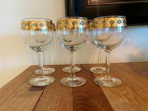 Vintage 22k Culver Valencia goblets