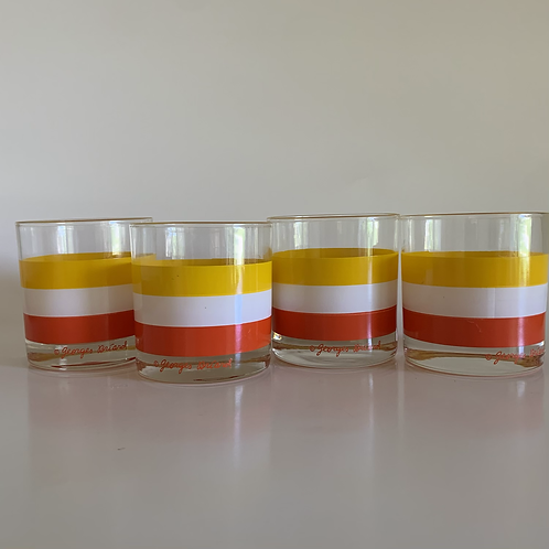 Georges Briard Cabana Cocktail Glasses