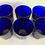 Thumbnail: Vintage cobalt blue Libbey cocktail glasses