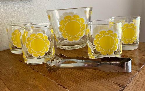 Mod Yellow Colony Cocktail Set