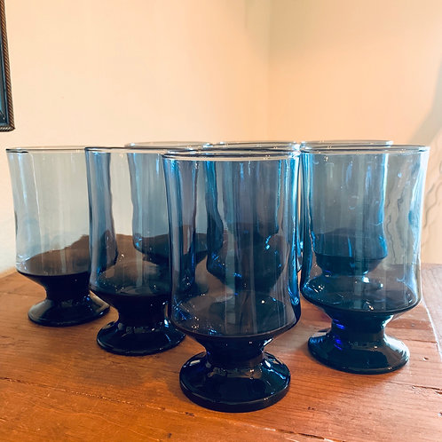 BOHO blue goblets