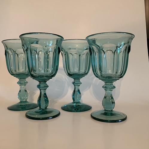 Vintage Imperial glass goblet set
