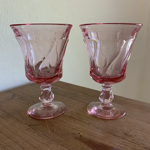 Vintage Fostoria goblets