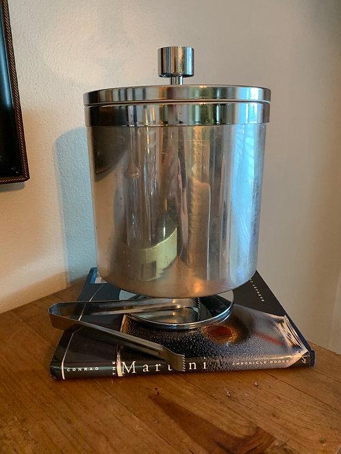Vintage stainless steel Ice Bucket