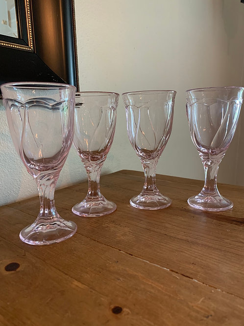 Vintage Noritake Sweet Pink Wine Goblets