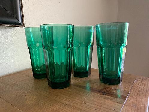 Vintage tall drinking glass set
