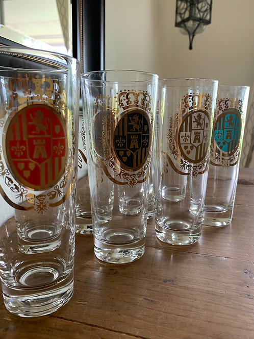 Vintage Federal Glass Baronet tall glasses