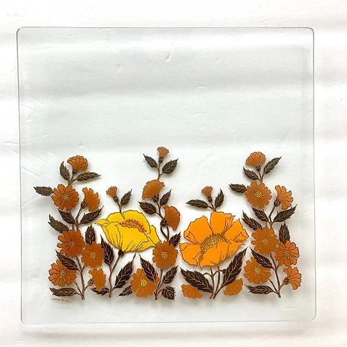 Vintage George Briard floral tray