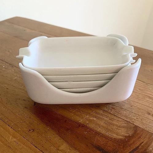 MCM Porcelain nesting ashtrays