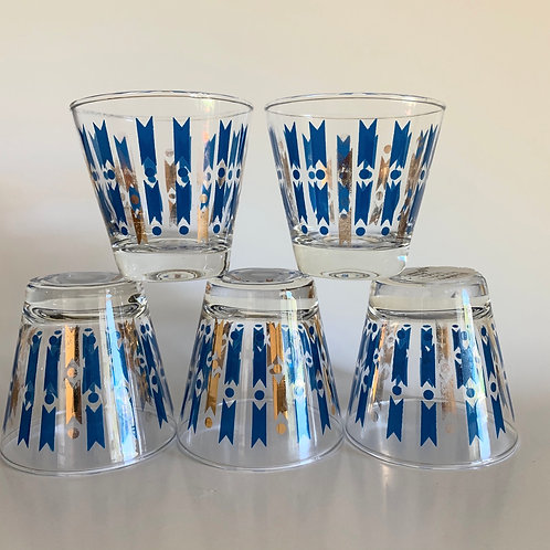 Mid Century Modern rock glass set