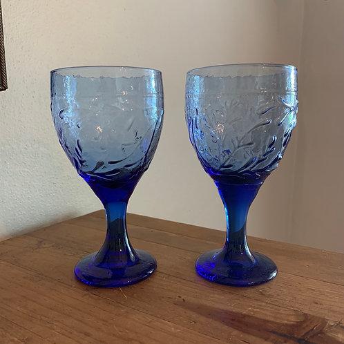 Vintage Libbey Garden Vine goblets