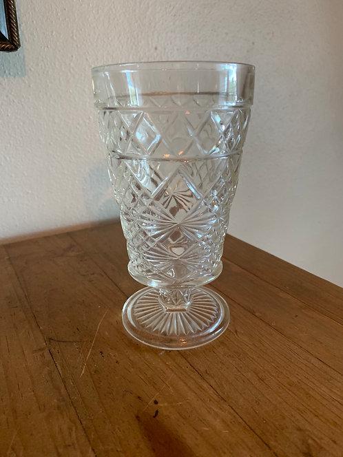 Vintage clear glass goblet