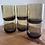 Thumbnail: Vintage boho Smokey brown cocktail glass set