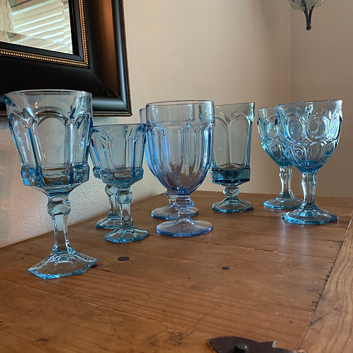 Vintage mixed goblets