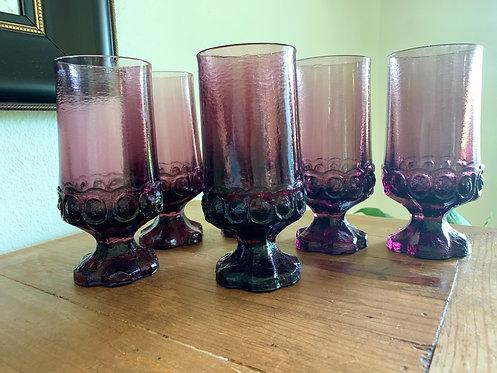 Vintage Madeira Plum goblets