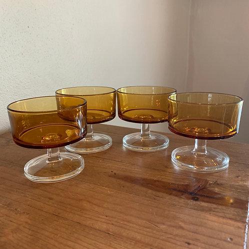 Vintage Arcoroc Luminarc dessert/coupe glasses