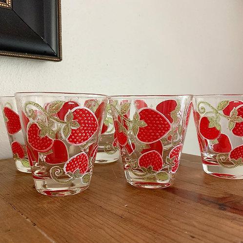 Vintage Georges Briard cocktail glass set