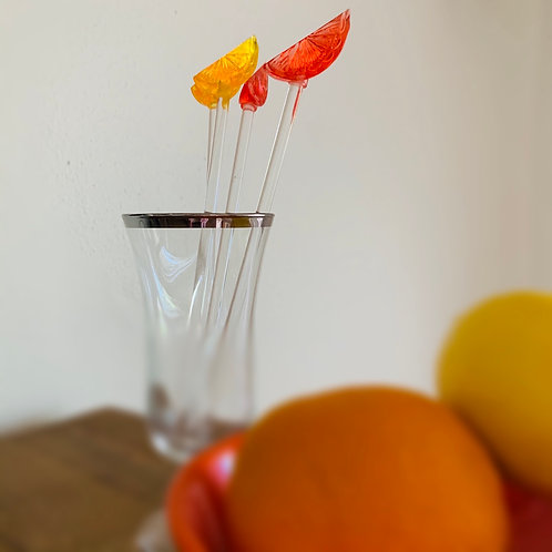Citrus swizzle sticks