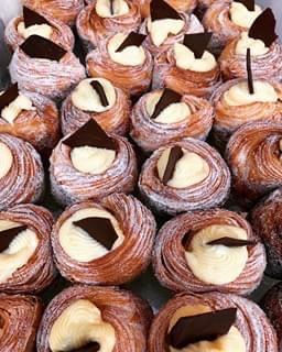 Chocolate Custard Cruffin